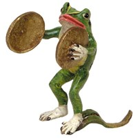 Bronze Frog with Cymbals