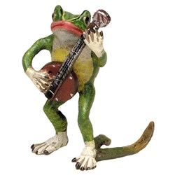 Bronze Frog with Banjo