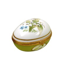 Lily of the Valley Lying Egg Limoges Box