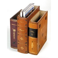 Leather Book Style Magazine Rack