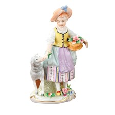 Porcelain Girl with Lamb