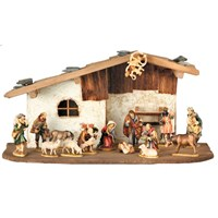 Maplewood Nativity Set Creche - 16 Piece Set