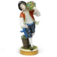 Porcelain Male Gardener