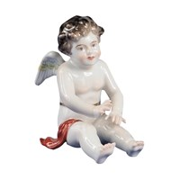 Cherub Sitting, Rust Cloth