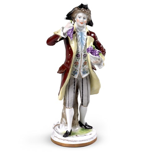 The First Grapes Man Porcelain Figurine