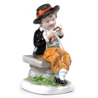 Boy Porcelain Figurine