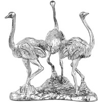 Pewter Egg Stand with Three Ostriches