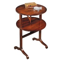 Mahogany Two-Tier Dumbwaiter Table