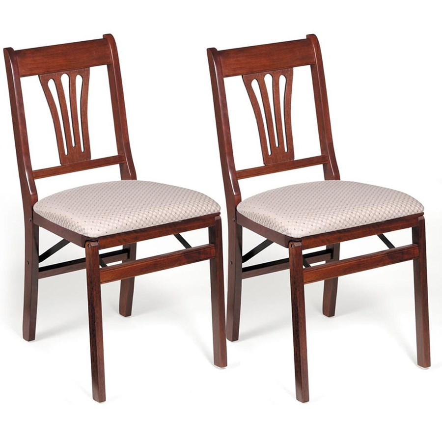 Elegant Fan Back Folding Chair, Set Of 2. Click To Expand