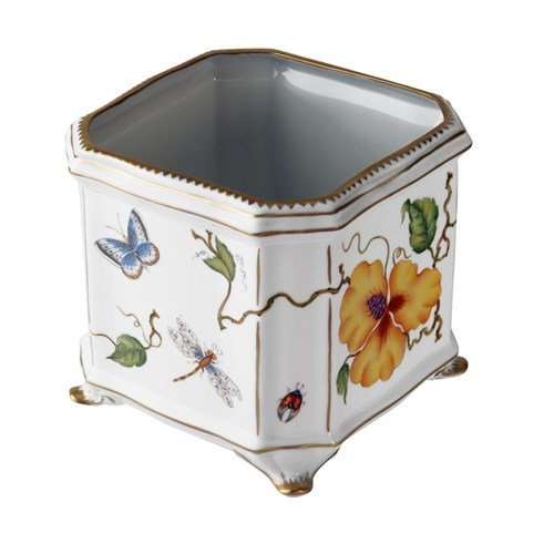 Anna Weatherley Studio Collection Yellow Flower Square Cachepot