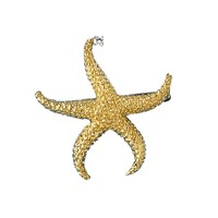 Large Starfish Pin 18k Gold with Diamond