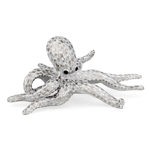 Herend Octopus Figurine, Platinum