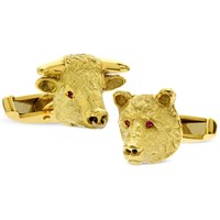 Bull & Bear 18k Cufflinks Sm Ruby Eyes