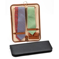 Italian Leather Tie Case