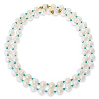 Pearl & Turquoise Necklaces Set/2