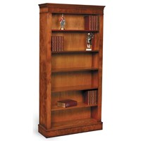 Burr Elm Open Bookcase