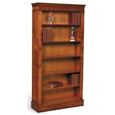 Burr Elm Open Bookcase 72""