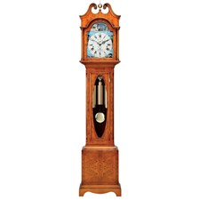 Yew Scroll Top Grandfather Clock