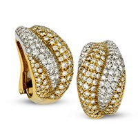 18k Gold Pave Diamond Earrings