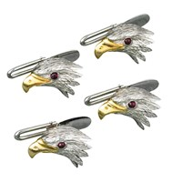 Eagle Studs, Set of Four