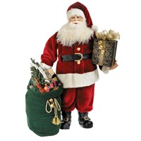 Santa with Green Bag of Gifts
