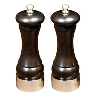 Sterling and Ebony Salt and Pepper Mills