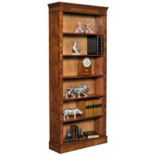 Burr Elm Tall Open Bookcase 84""