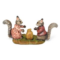 "Austrian Bronze ""Goody & Timmy with Nuts"" Figurine"