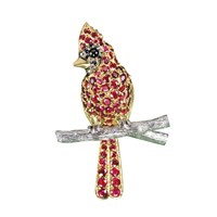 Cardinal Pin Rubies & Black Diamonds