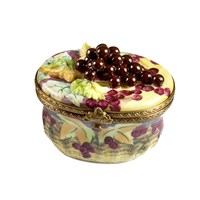Grape Leaves Basket Limoges Box