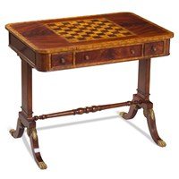 Mahogany Game Table