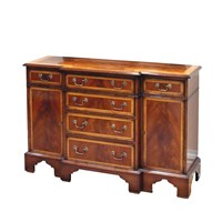 Breakfront Sideboard Mahogany Satinwood