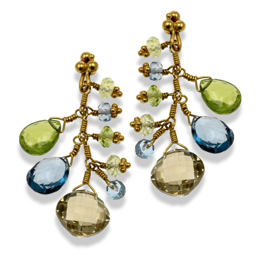 village drop stone goldsmith earrings stud the peridot