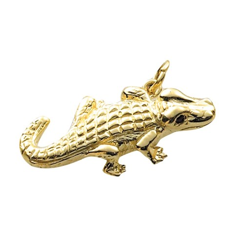 18k Gold Alligator Charm