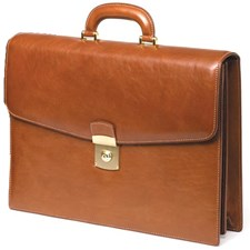 Two-Folder Leather Briefcases