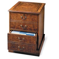 Burr Elm File Two-Drawer Cabinet