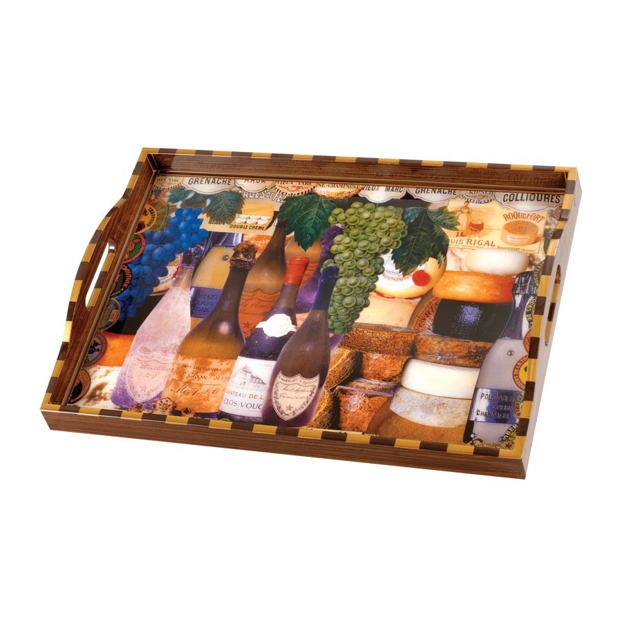 Easy Home Decorating With Trays: Wine And Cheese Decoupage Tray