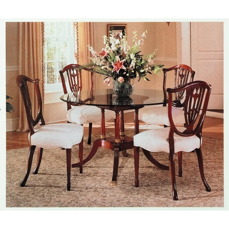 Shield Back Dining Room Chairs: Shield Back Arm Chair