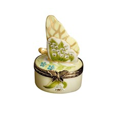 Lily of the Valley Butterfly Box, Yellow