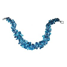 Two Strand Blue Topaz & Iolite Large Briolette Necklace