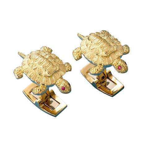 18k Gold Turtle Cufflinks