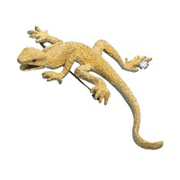 Salamander 18k Gold Pin