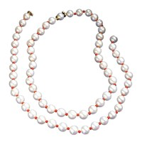 Pearl & Coral Necklaces, Set of 2