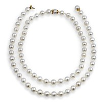 Pearl & Pearl Necklaces Set/2