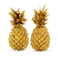 18k Gold Small Pineapple Earrings, Clips