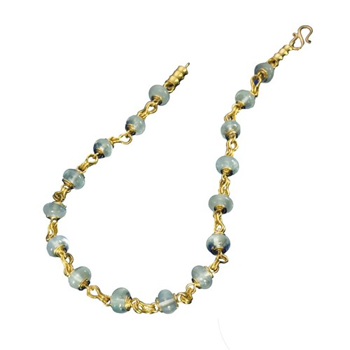 Aquamarine Necklace with Sailors Knots