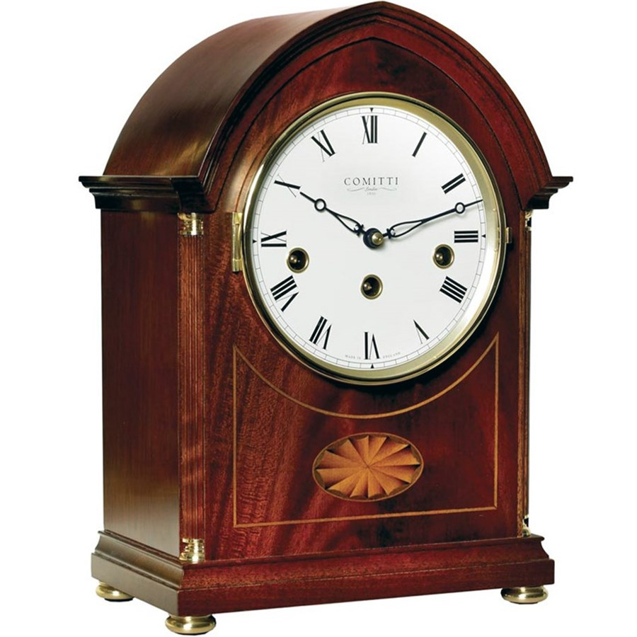Inlaid mahogany lancet mantel clock mantel desk clocks click to expand amipublicfo Images