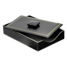 Double Line Leather Single Legal Trays