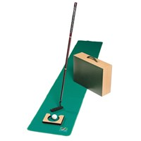 Travel Putting Set in Leather Case