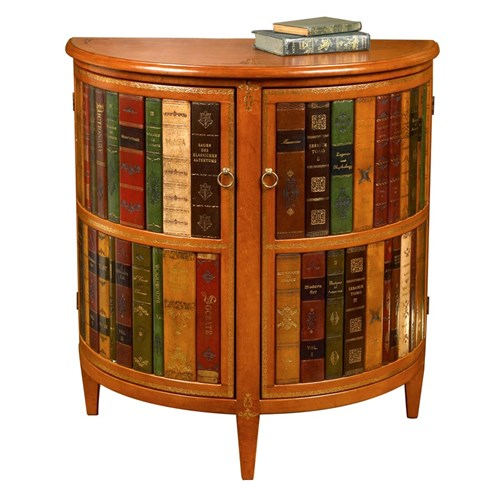 Books Demilune Commode